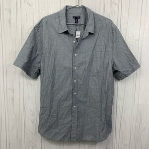 GAP MENS SLIM FIT GRAY SHORT SLEEVE SHIRT XXL